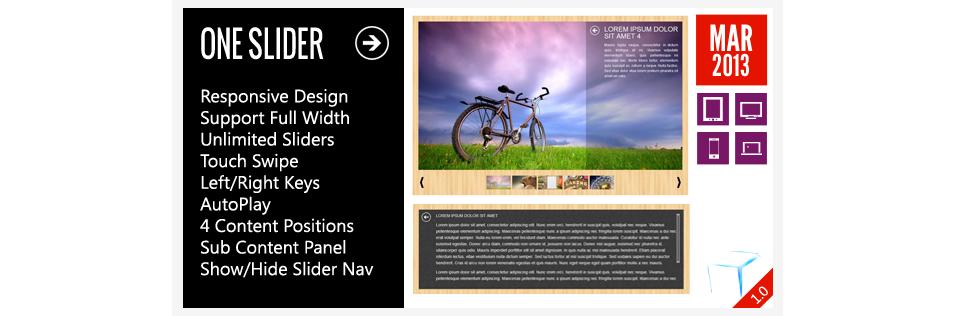 interactive responsive slider