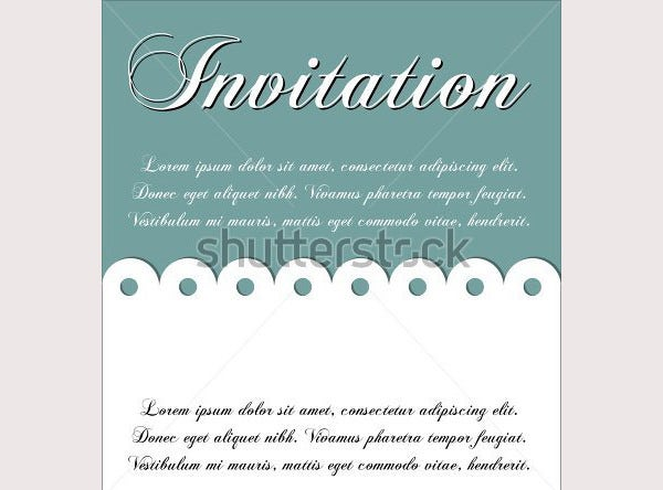 invitation template with sample text