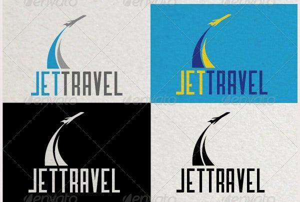 jet travel logo template