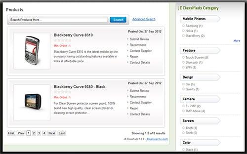 joomla classifieds component extensions
