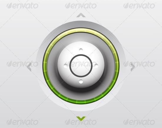 joystick ui button design