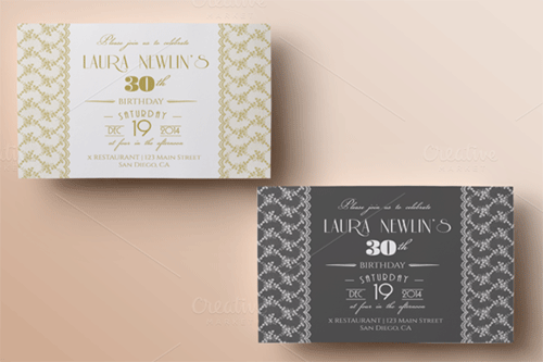 lace birthday invitation