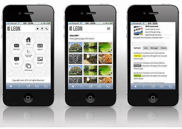 free mobile site template download 30 best retina ready mobile web templates free