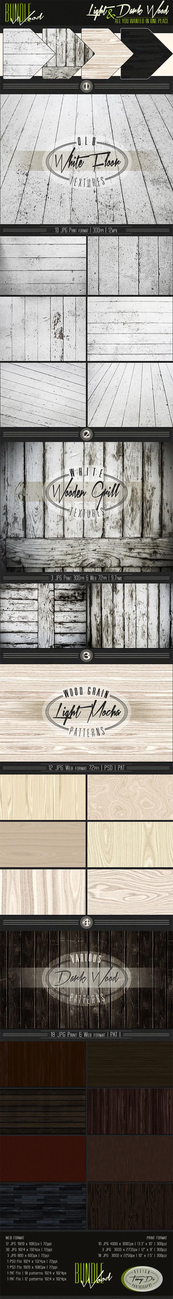 light dark wood bundle