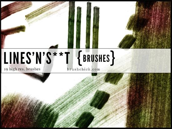 lines n grunge line brushes