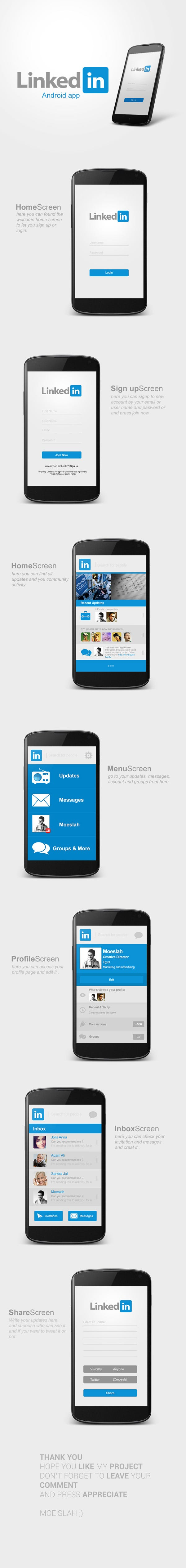LinkedIn Android App Design