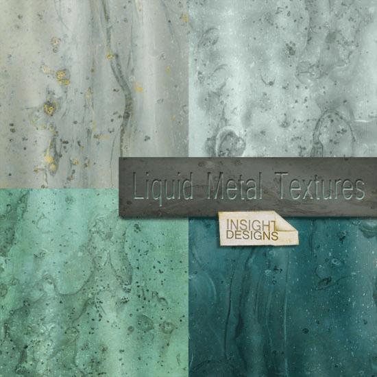 liquid metal textures