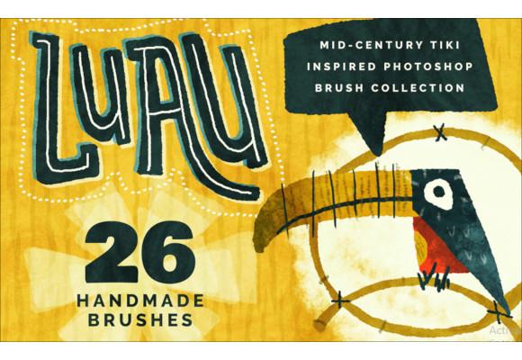 luau mid century tiki brush collection