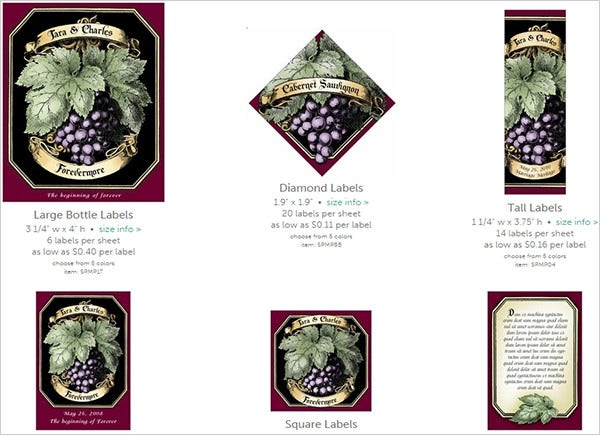 meritage purple wine labels