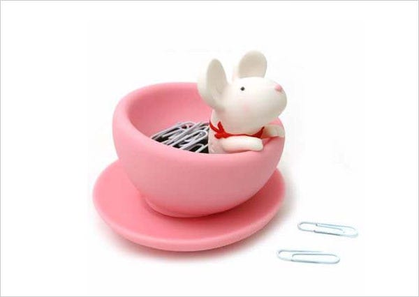 mouse paper clip holder