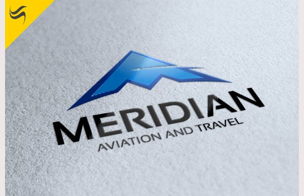 meridian aviation logo template