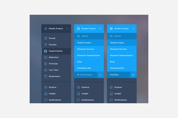 19 best web ui menu designs