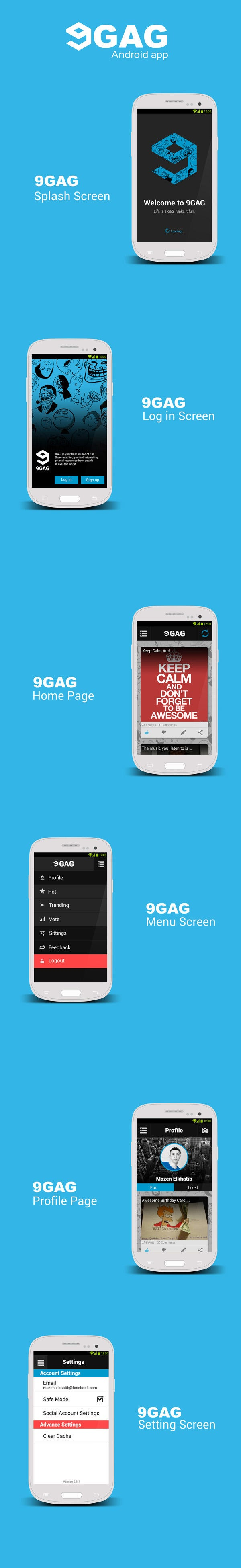 With Smart Fonts, Absolutely Specific Features, Simple Android Ui Design, Android  Layout Design Etc. The Mobile App U201d 9GAG U201d Ux U0026 Ui Design Is A Great ...
