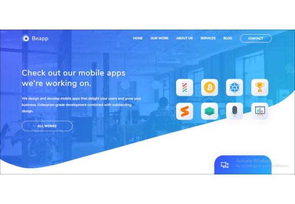mobile app development agency html5 template