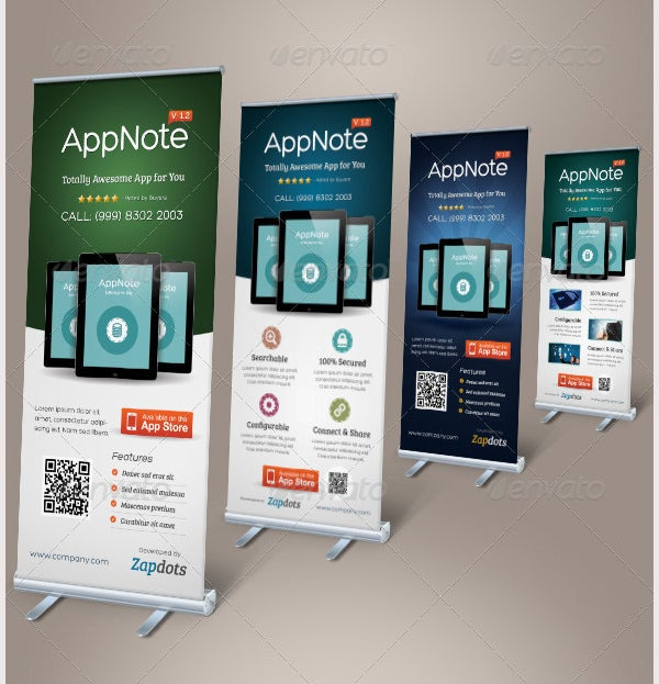 mobile app promotion roll up banners