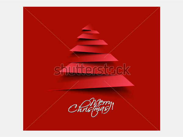 Modern abstract christmas tree background, eps10 vector