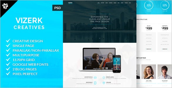 multipurpose parallax one page