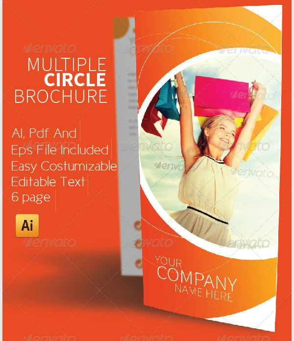 multiple circle brochure