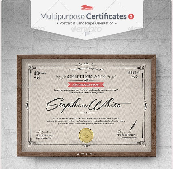 Multipurpose Certificates12