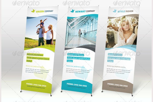 12 x banner stand design template vector multi-color display.