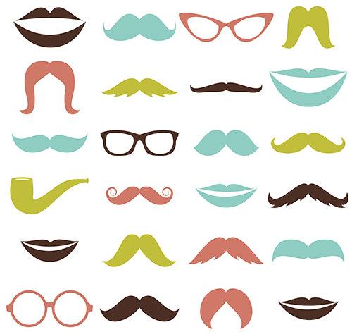 mustaches and lips photoshop brushess