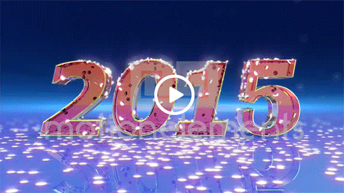 new year 2015 animation stock animation