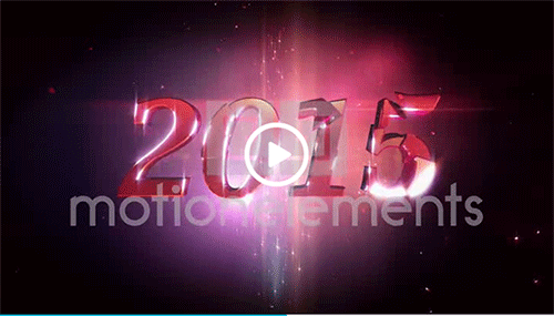 new year 2015 loopable background stock animation