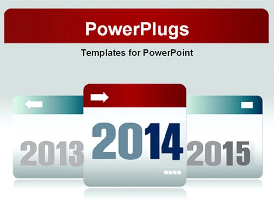 new year ppt template design