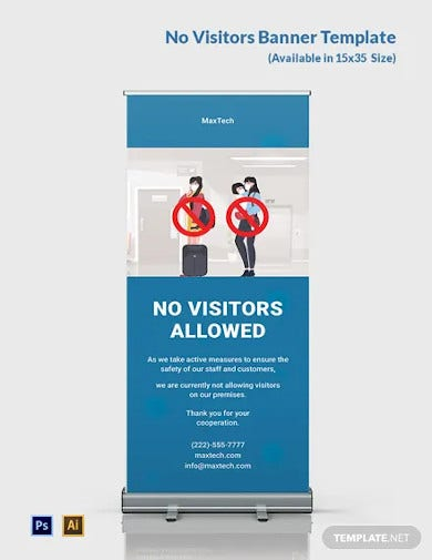 no visitors banner template