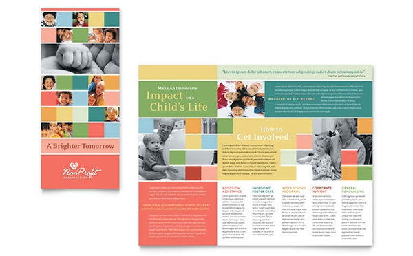 non profit association for children brochure
