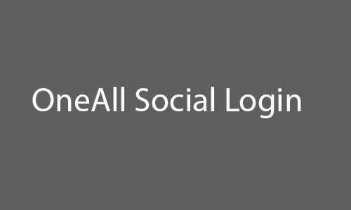 oneall social login