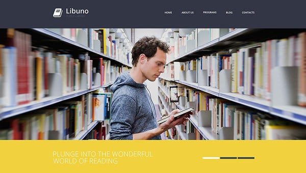 online library website templates  u0026 themes