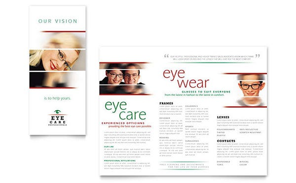 optometrist optician brochure