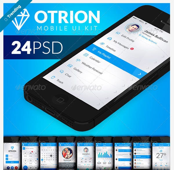 otrion mobile ui kit graphicriver copy