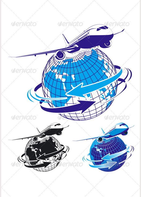 passenger airliner as a logo