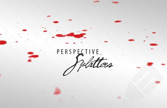 perspective splatters