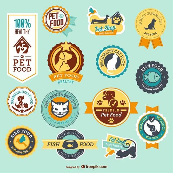 petshop vector badges
