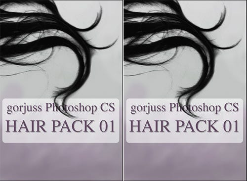photoshop hair brushes pack 01
