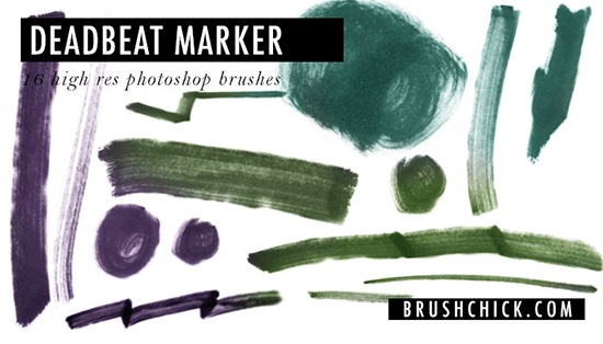 photoshop marker brushes