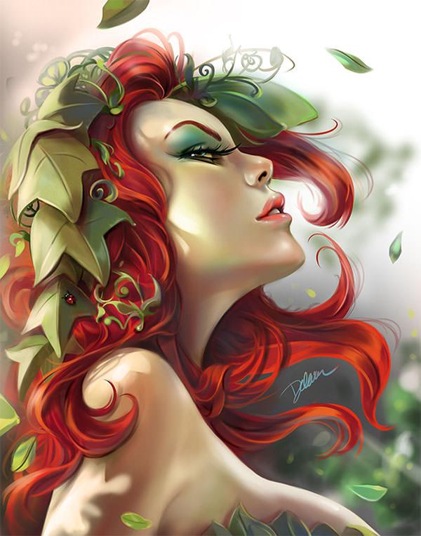 Poison Ivy Pinup Portrait