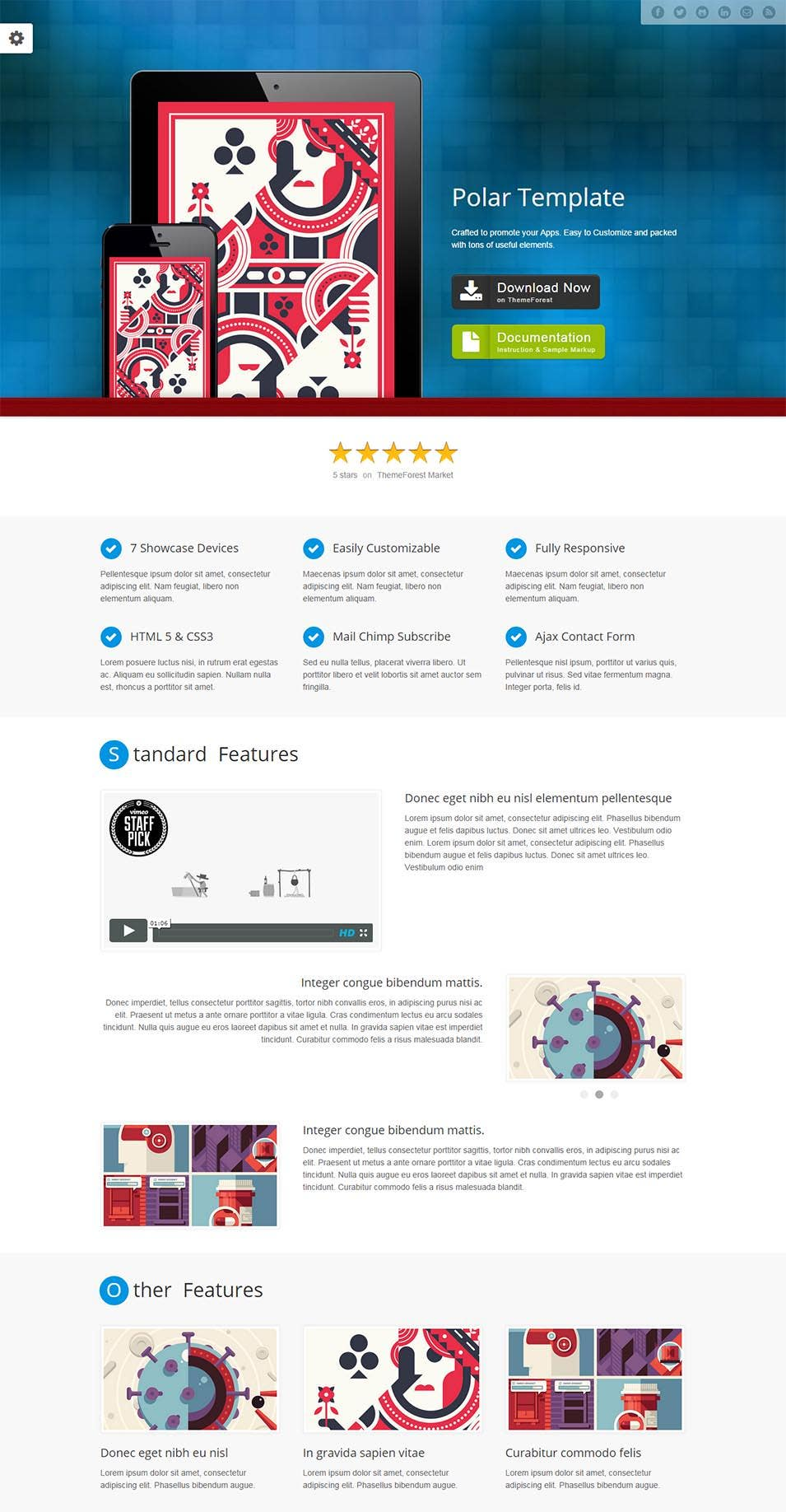 polar responsive apps landing page html version