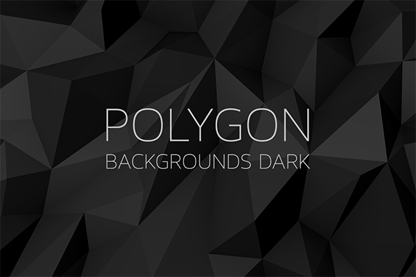 polygon backgrounds dark