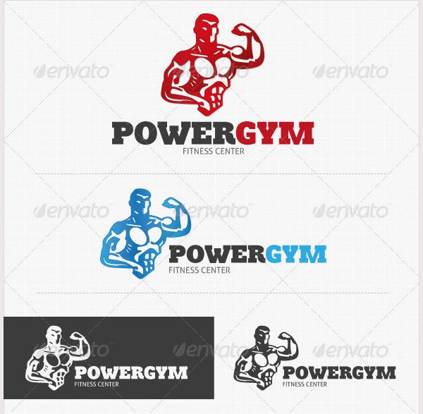 Power Gym Fitness Logo