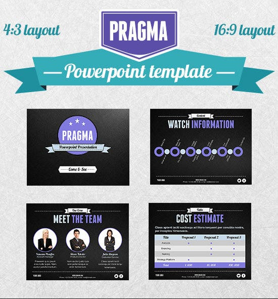 pragma ppt template design