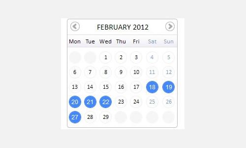 pretty calendar