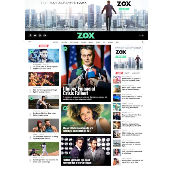 professional wordpress news magazine theme
