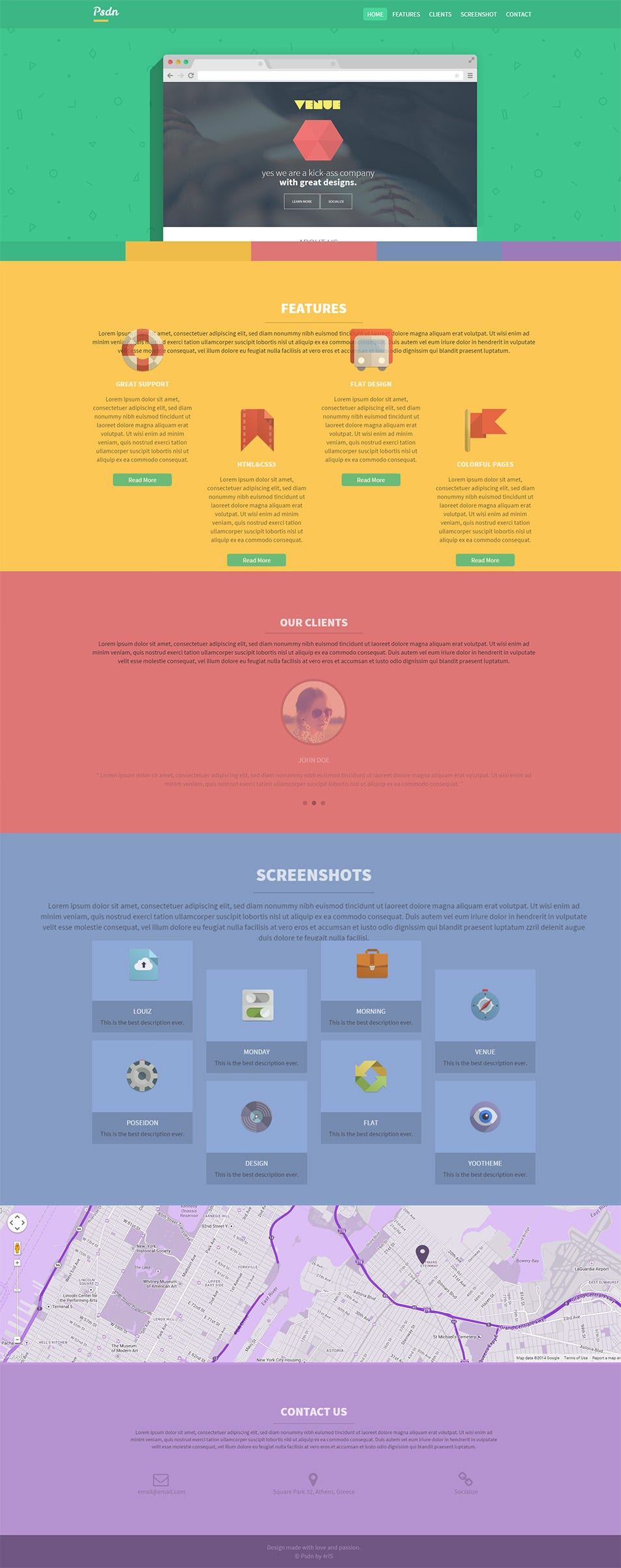 Colorful Responsive Landing Page