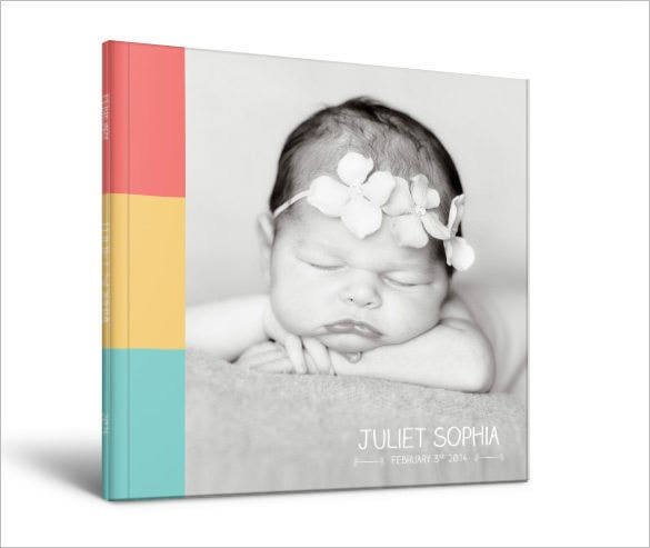 Beautiful Baby Photo Album 20 Free PSD AI Vector EPS Format – Photo Album Templates Free