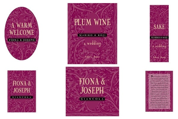 renaissance wine labels design
