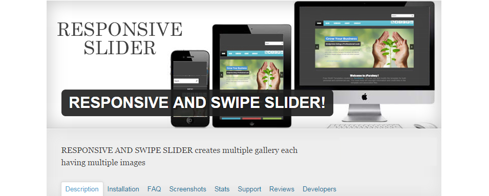 responsive and swipe slider
